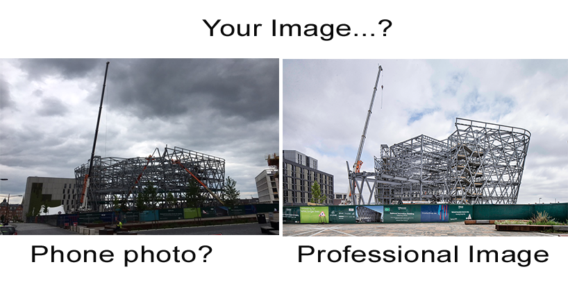 construction photography comparison of photograph taken be an amateur and a professional photographer