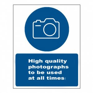 mandatory sign for construction photography