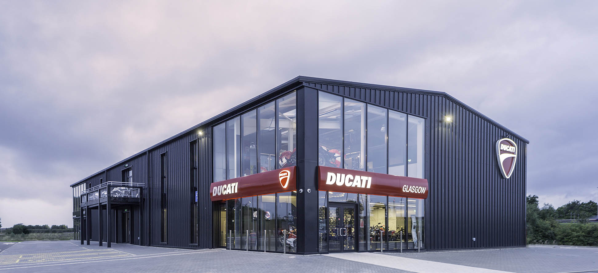 Ducati Dealer Hillington Park, by commercial photographer in Glasgow James Thompson