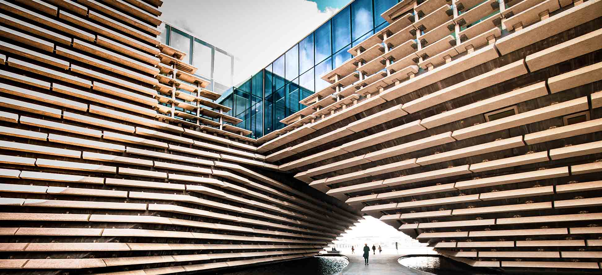 Architectural design of V&A Museum Dundee photograph by James Thompson