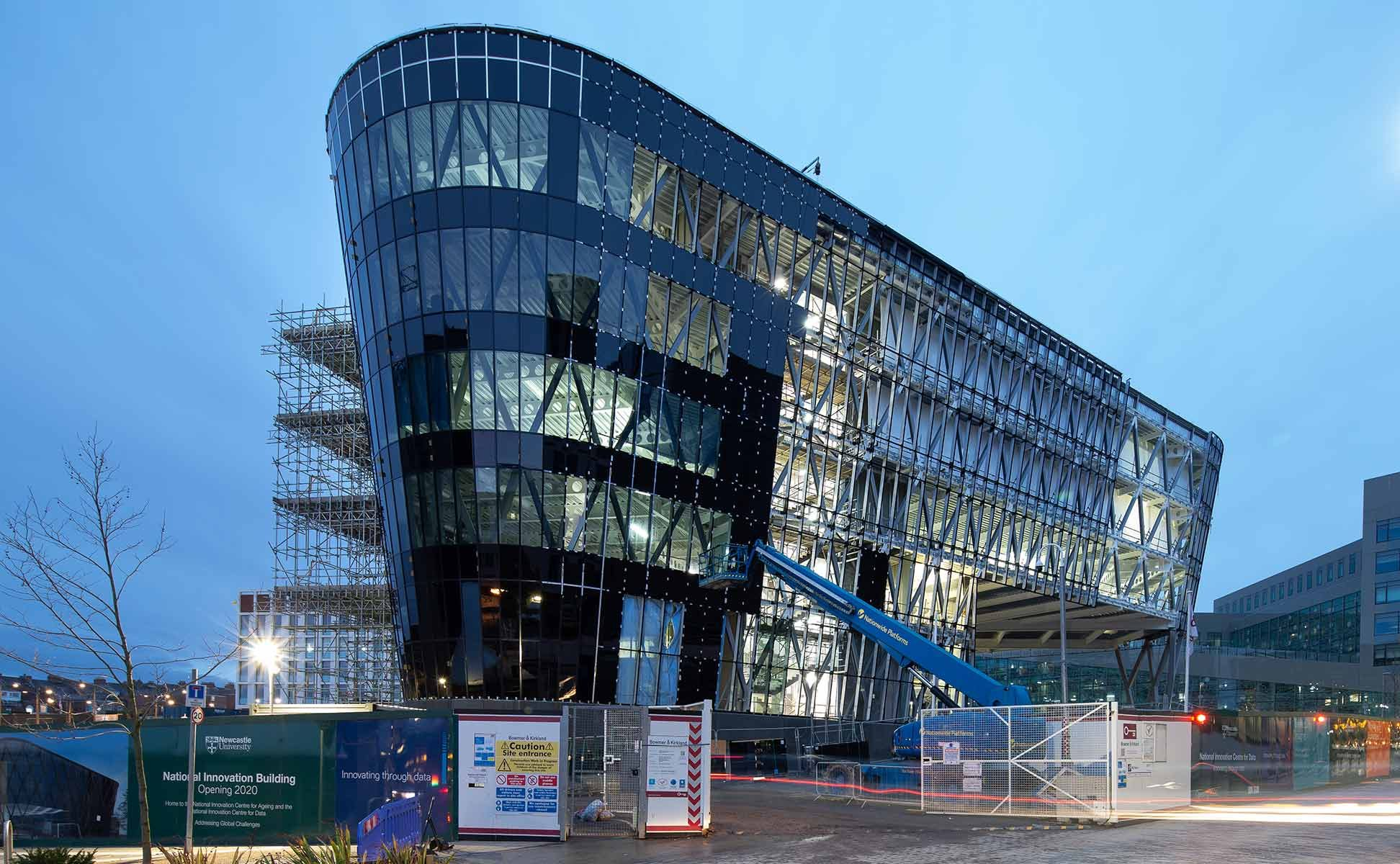 Construction photograph of National Innovation Centre early December Morning