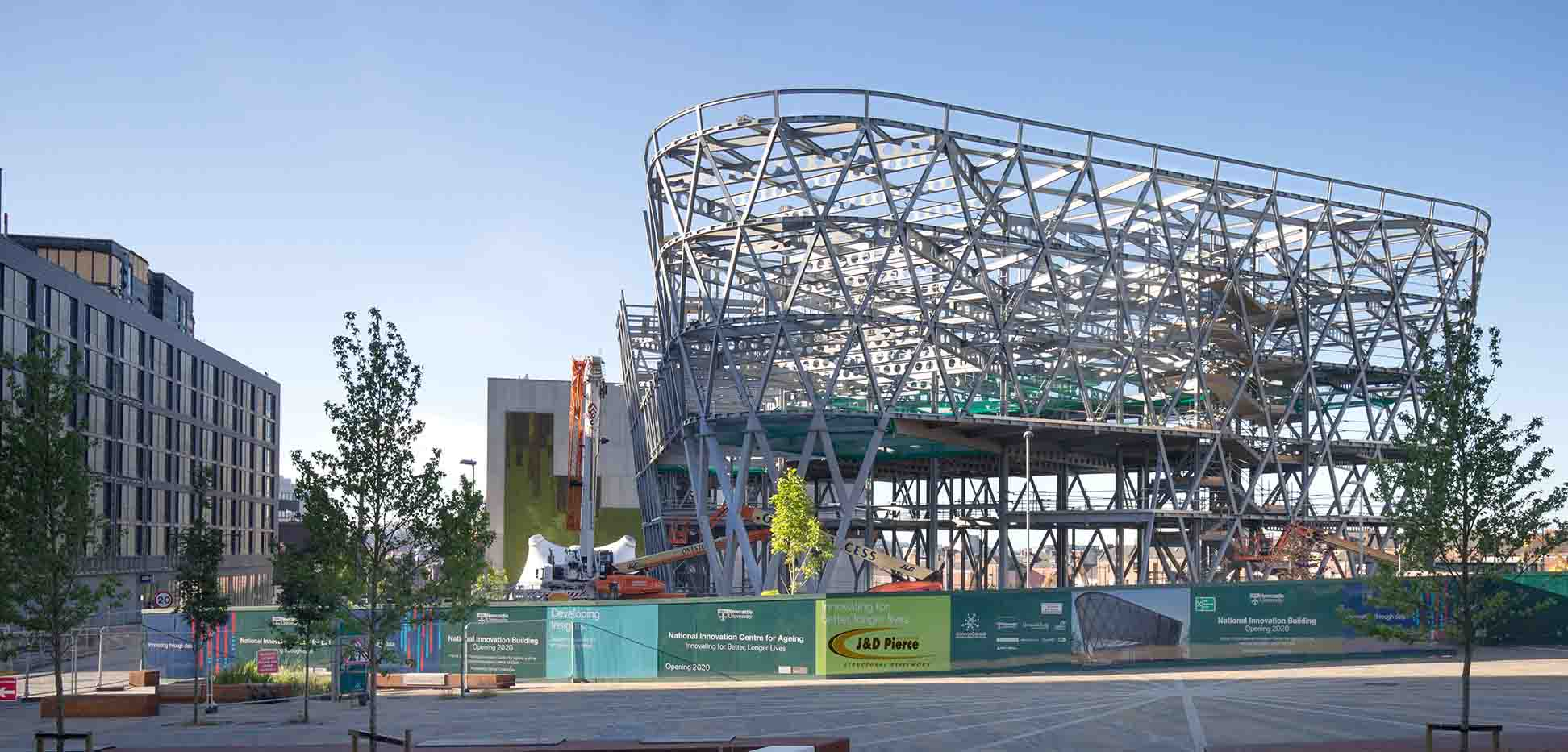 early July morning shot showing Construction of National Innovation Centre Newcastle