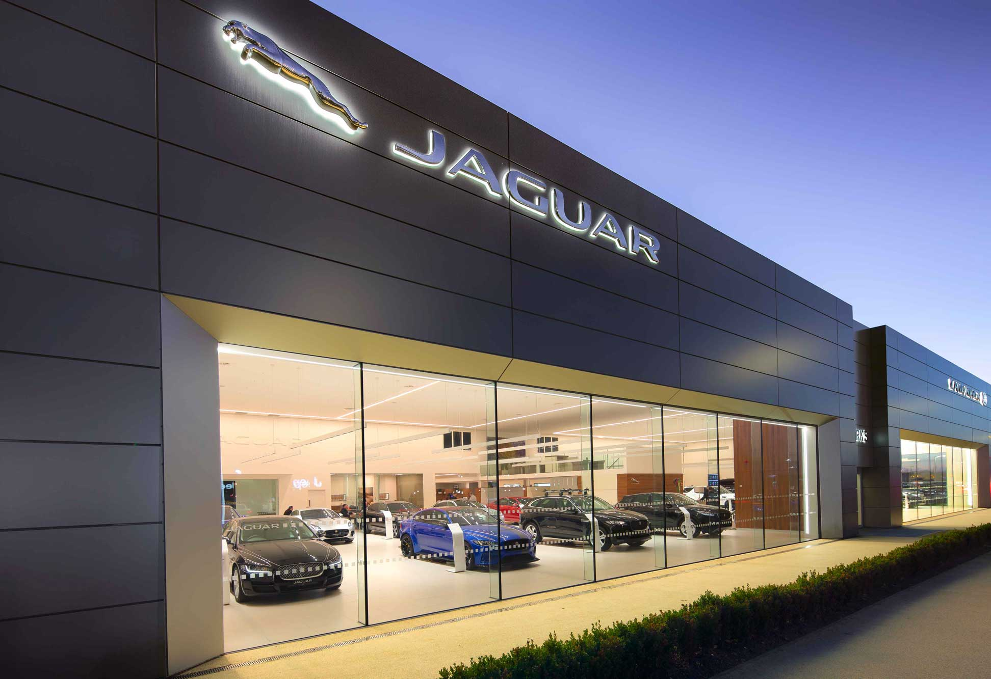 Parks Motor Group Jaguar Showroom, Heath Road, Ayr.  Photography by James Thompson.