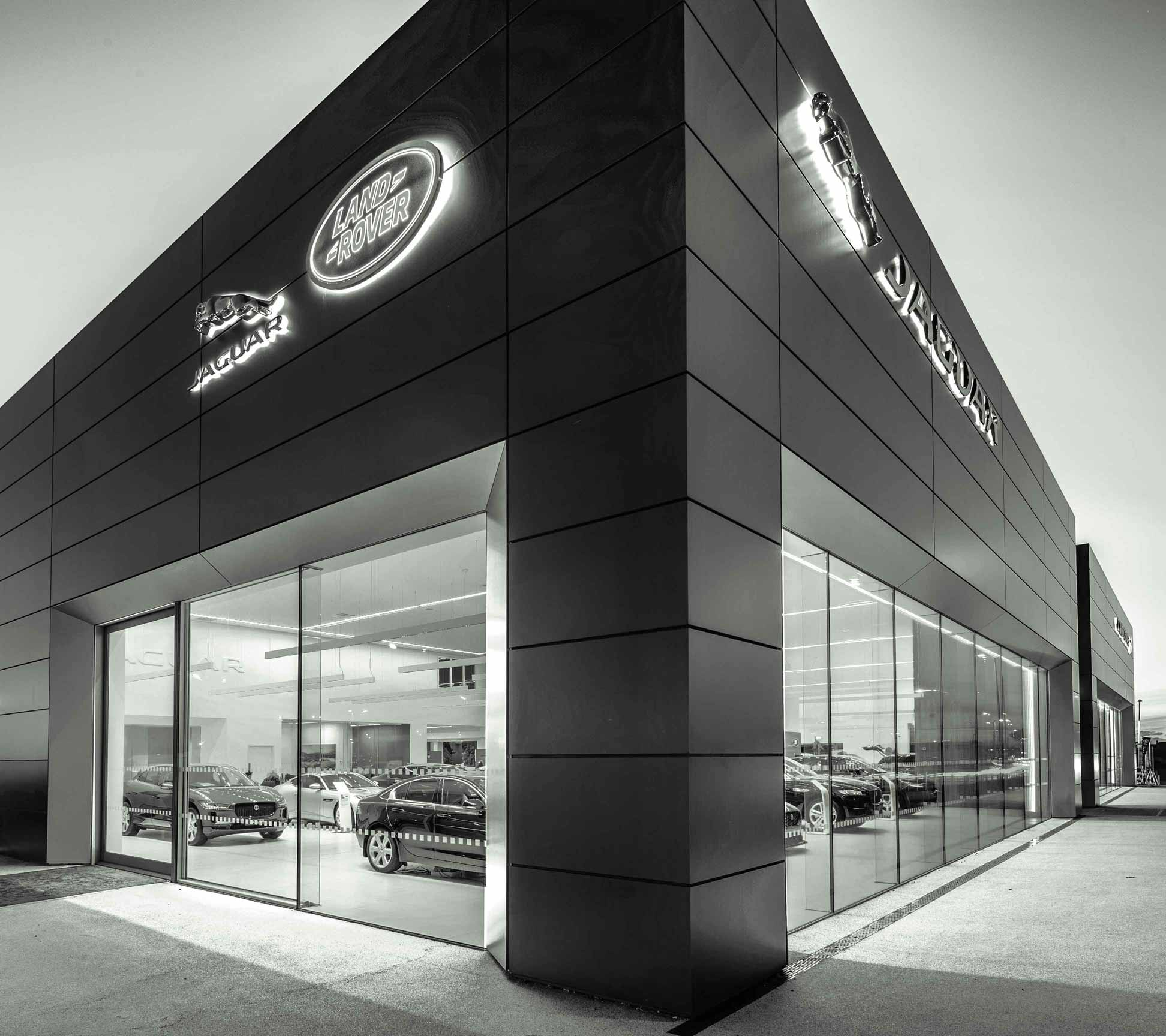 Parks Motor Group Jaguar Land Rover Dealership in Ayr. Photography by James Thompson.
