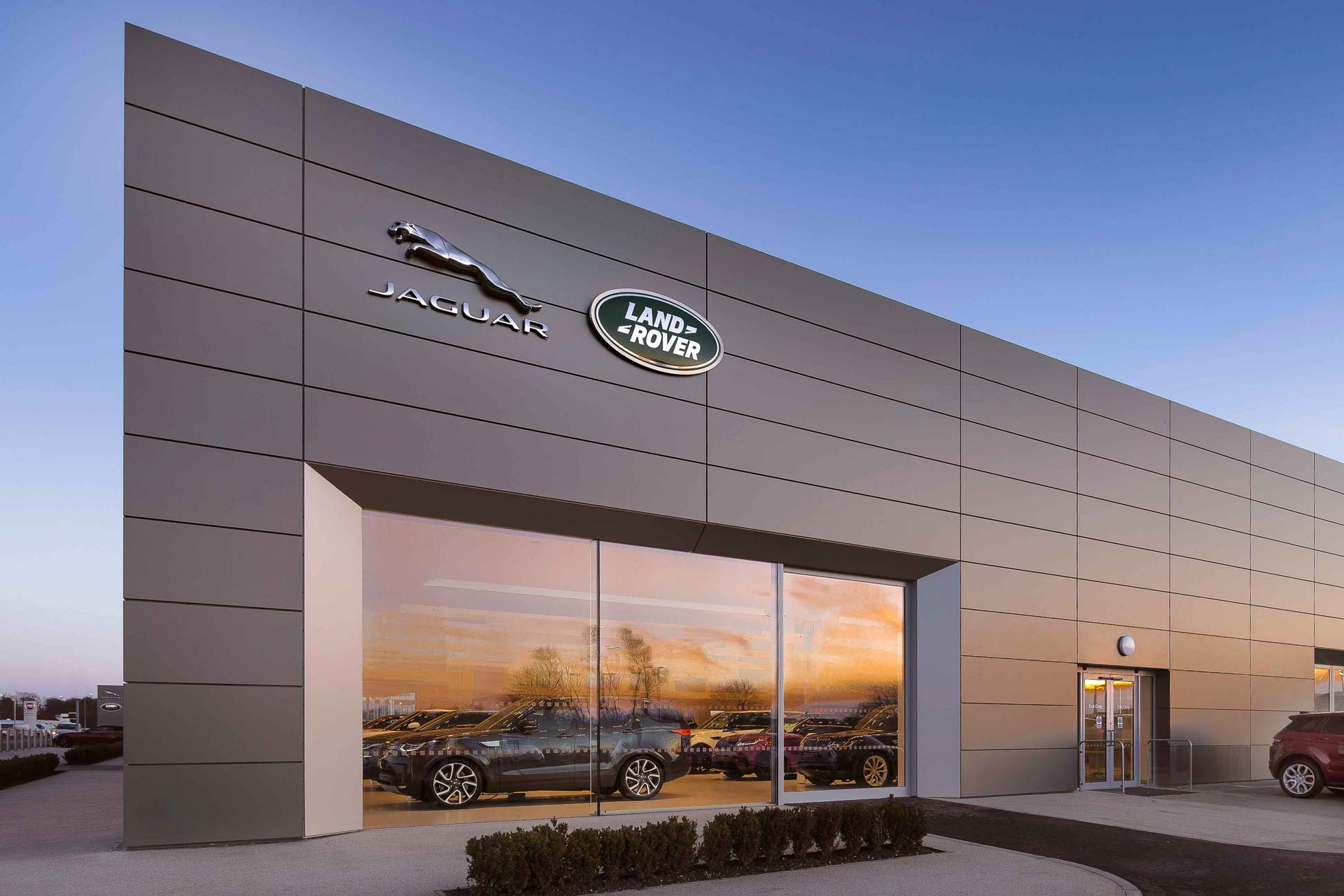 Jaguar Land Rover Arch Dealership in Ayr. Photography by James Thompson