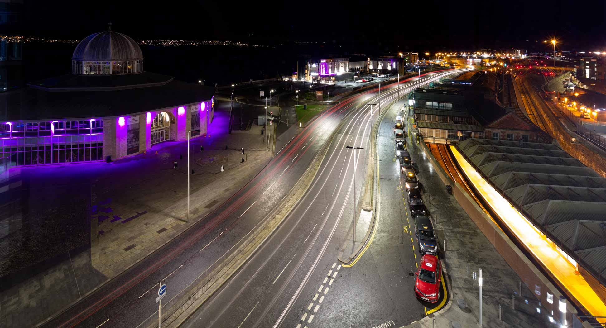 view-of-Discovery-Cafe-and-DUndee-Premier-Inn-from-Sleeperz-Hotel-DUndee-window