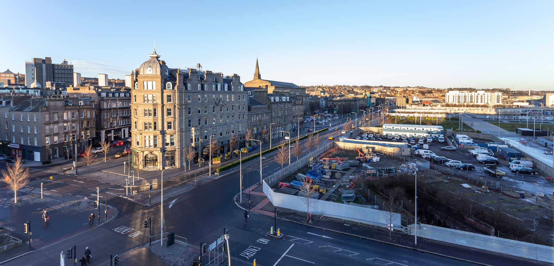 view-of-Malmaison-Hotel-DUndee-from-Sleeperz-Hotel-Dundee