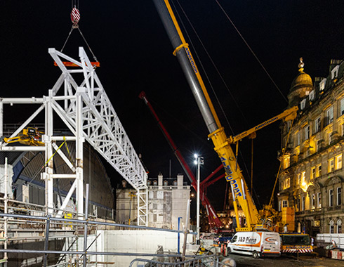 Construction-site-progress-photograph-of-Queen-Street-Railway-Station-Extension-Glasgow