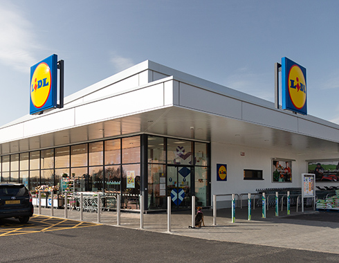 Commercial Photography of Lidl-Store-Castle-Street,-Dumbarton