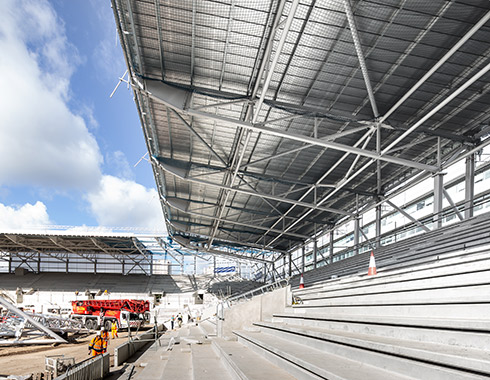 London Construction photography showing Construction-Photography-of-new-Brentford-FC-Stadium-London