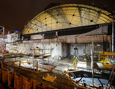Construction Site Photograph showing Queen-Street-Glasgow-Railway-Station-extension