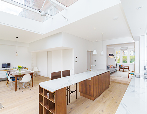 interior Photography showing interior design construction completed in London Residence