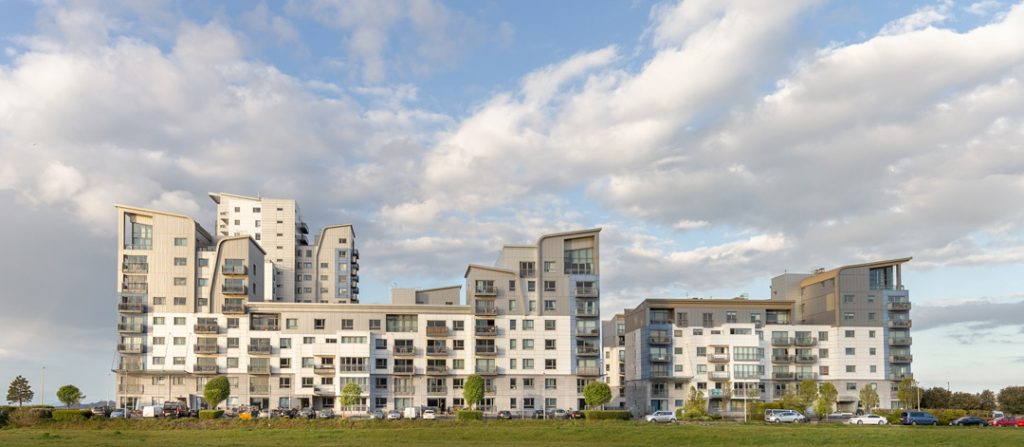 Architectural view of Granton-Harbour-Apartments-Edinburgh--by-uk-construction-photography
